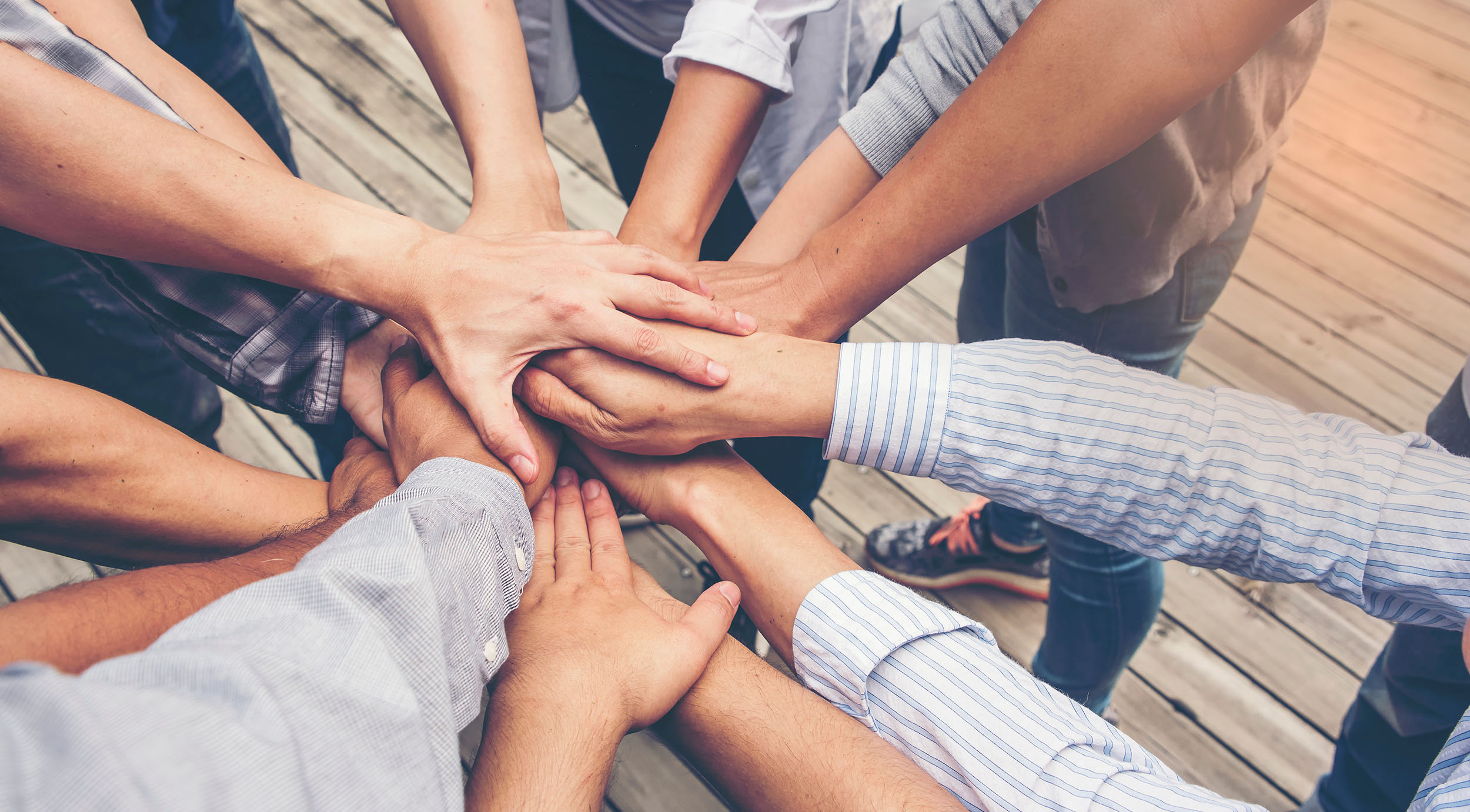 hands together for diversity and inclusion